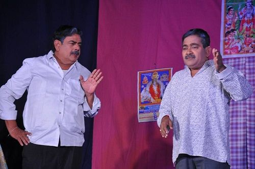 Goparaju Ramana Performing in a Theatre Play