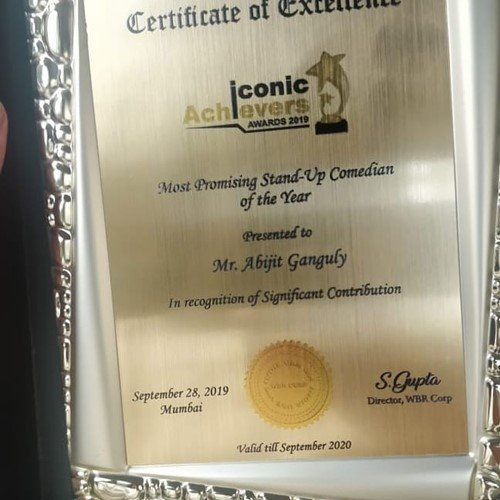 Iconic Achievers Award 2019 presented to Abijit Ganguly