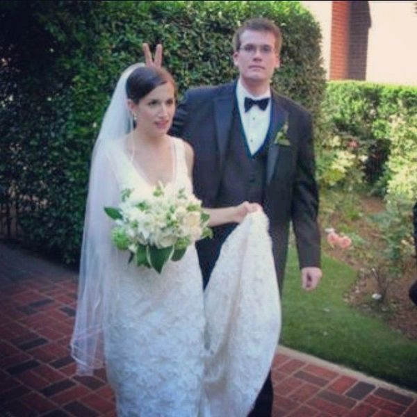 John Green and Sarah Urist Green on their marriage day