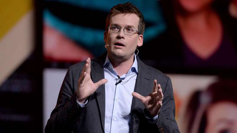 John Green in a conference.