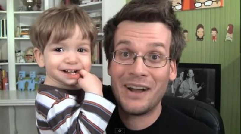 John Green with son Henry