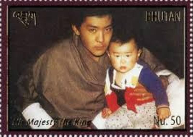 King Khesar's childhood picture with his father