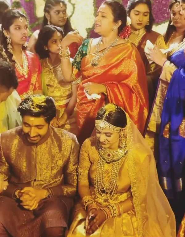Niharika Konidela and Chaitanya Jonnalagedda's wedding photo