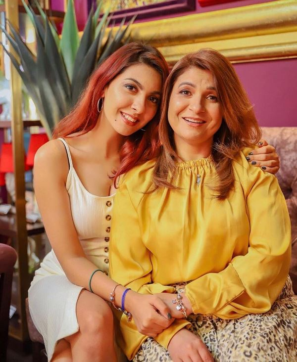 Niki Mehra with her mother