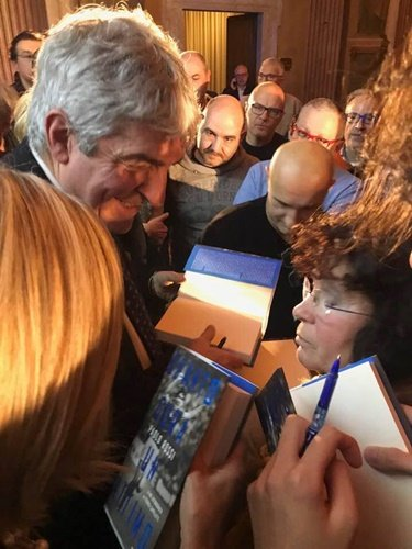 Paolo Rossi at the signing event of his autobiography 'Quanto Dura Un Attima'