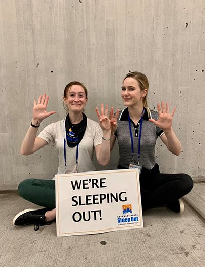 Rachel Brosnahan Supporting Sleep Out Initiative of Covenant House