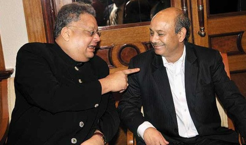 Radhakishan Damani with his protégé Rakesh Jhunjhunwala