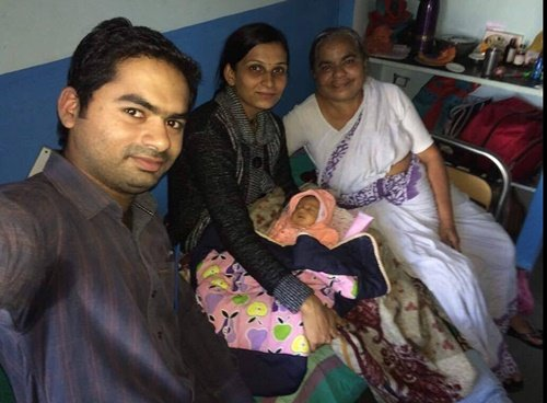 Ram Kolhe with his sister-in-law and Dr. Savita Kolhe