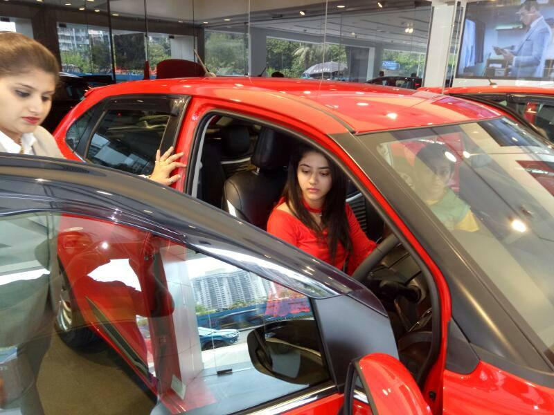Shriya Sharma in her car