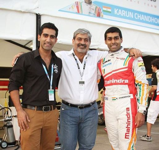 Suhail Chandhok with his father and brother