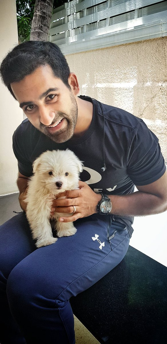 Suhail Chandhok with his pet