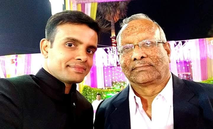 Tarkishore Prasad with his son Rahul Prasad