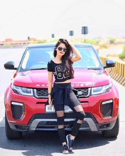 Aakriti Rana with her car