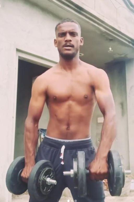 Kaka Ji doing workout