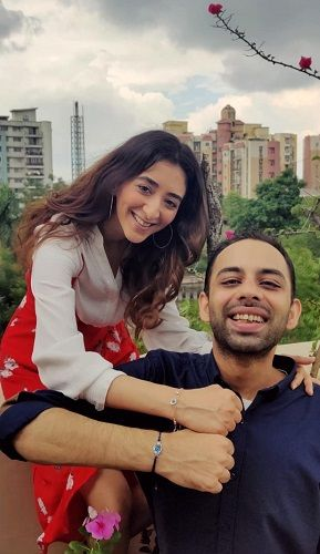Kritika Avasthi with her brother
