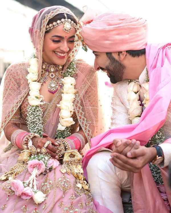 Mehak Oberoi and Manish Shah's wedding picture