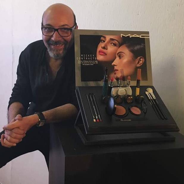 Mickey Contractor with his collaborated makeup products with M.A.C