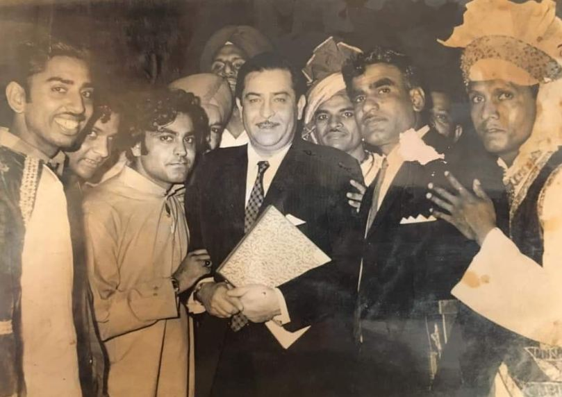 Narendra Chanchal with Raj Kapoor