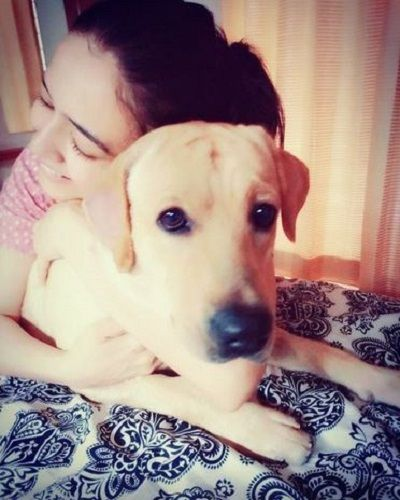 Nidhi Seth and her pet dog