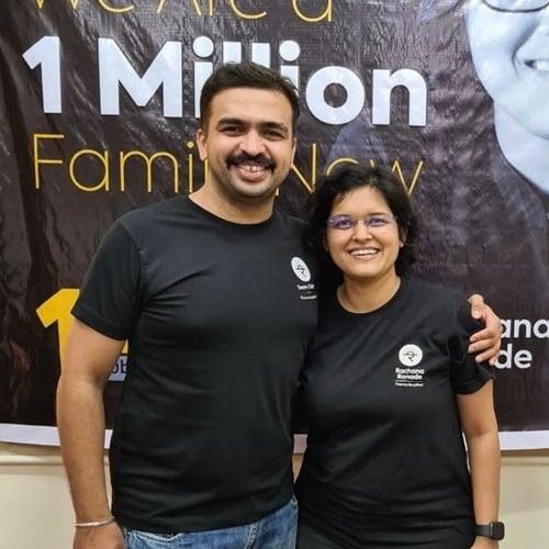 Rachana Ranade with her husband, Akshay Ranade