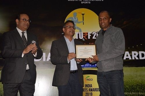 Sylvester Peter being honoured by FICCI