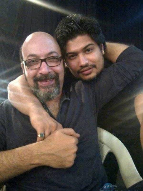Vardan Nayak with Mickey Contractor