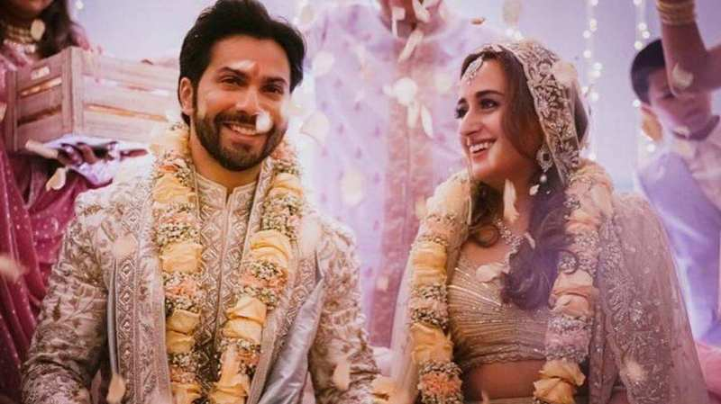 Varun Dhawan and Natasha Dalal wedding photo