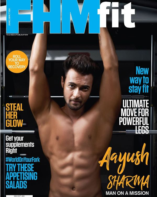 Aayush Sharma on the cover of the FHM Fit Magazine