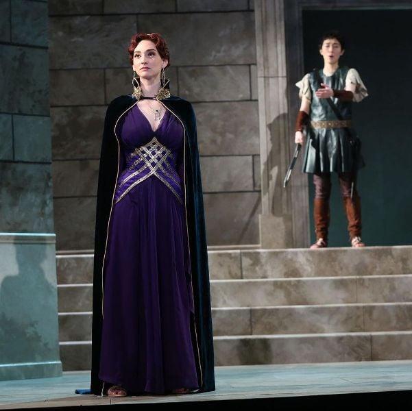 Abigail Shapiro playing role of 'Vitellia' in the opera 'La Clemenza di Tito'