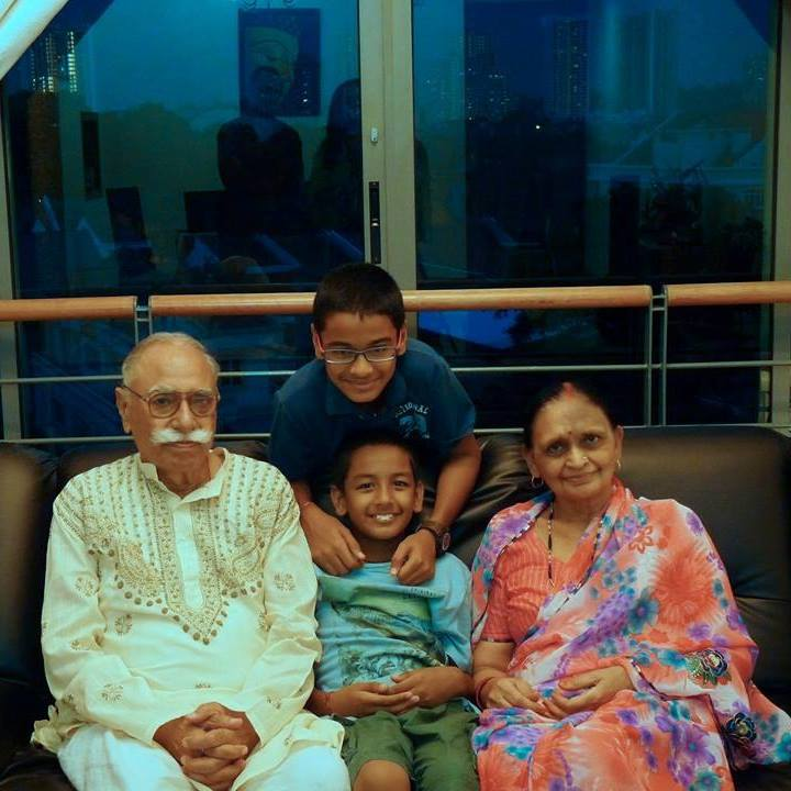 Deependra's parents and children