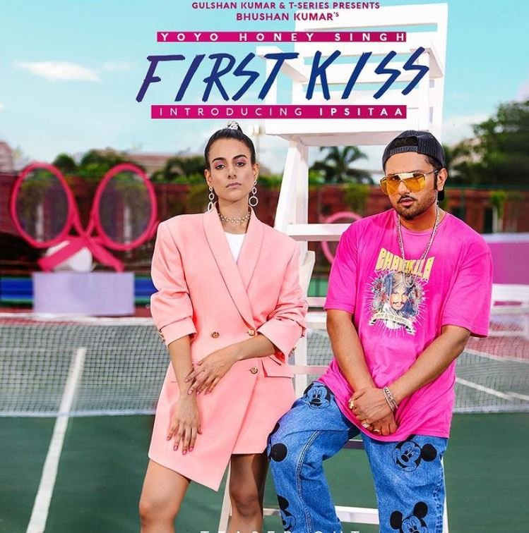 Ipsitaa Khullar on the cover art of the song First Kiss