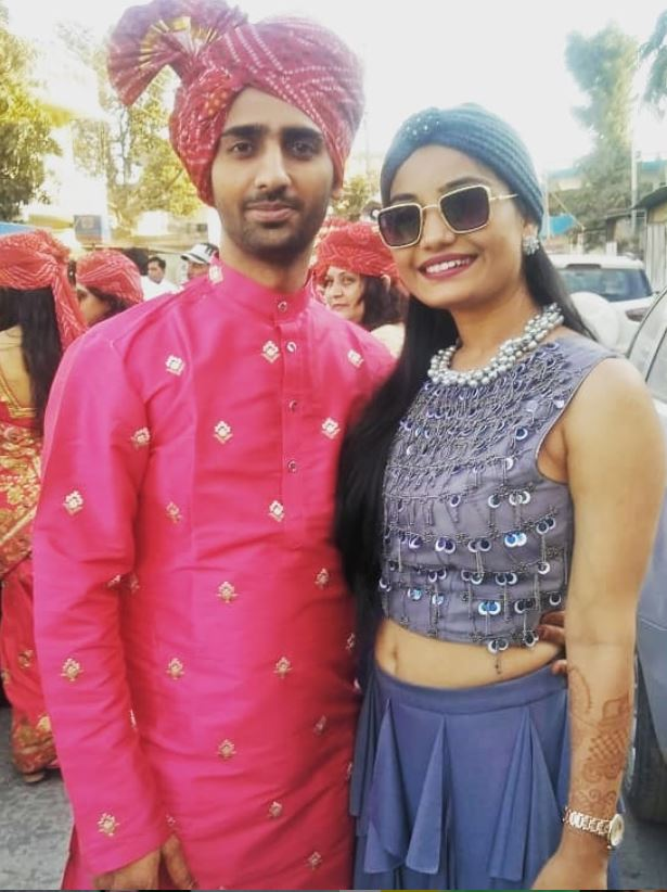 Khushboo Atre with her brother