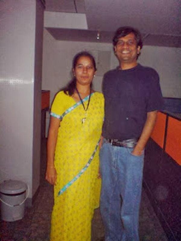 Leena Tewari with her brother