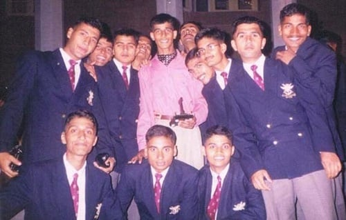 Old picture of Major Mohit Sharma(pink shirt) with his NDA batchmates