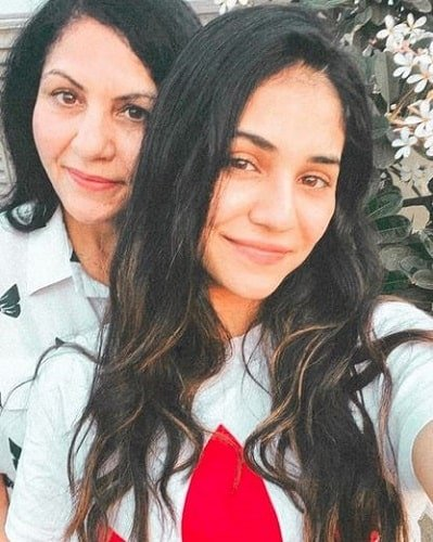 Radhika Seth with her mother