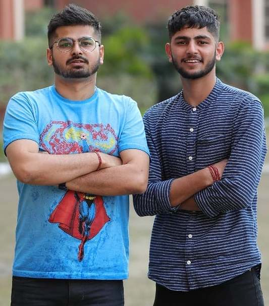 Rajat Chauhan with his brother