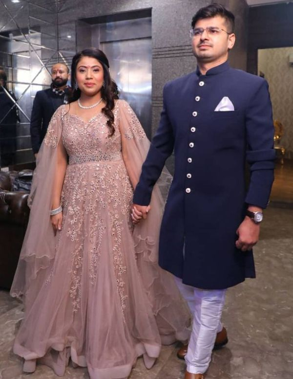 Rajat Chauhan with his wife