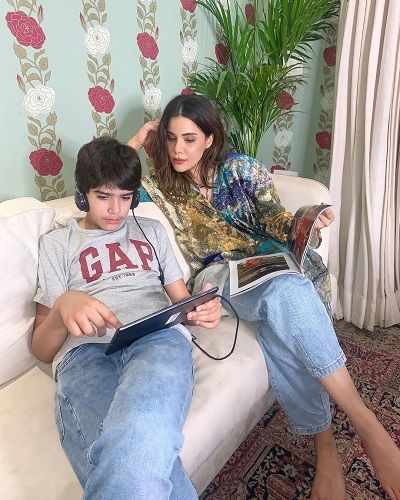 Roshni Bhatia and her son