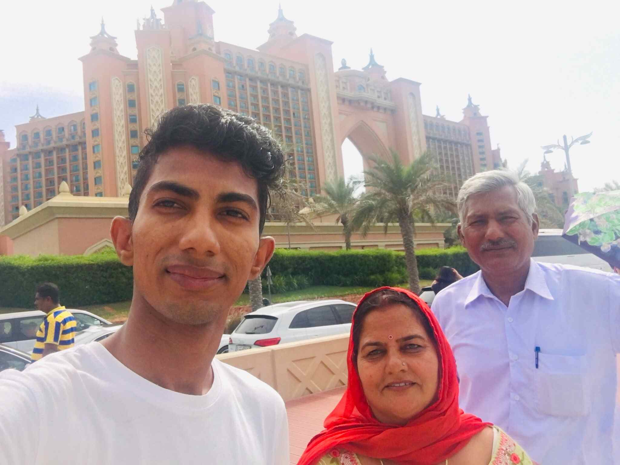 Shyam Rangeela with his parents