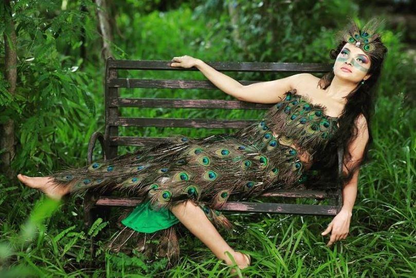 Soorya Menon posing for a photoshoot