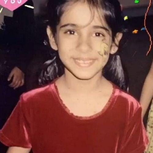A childhood picture of Shlokka Pandit