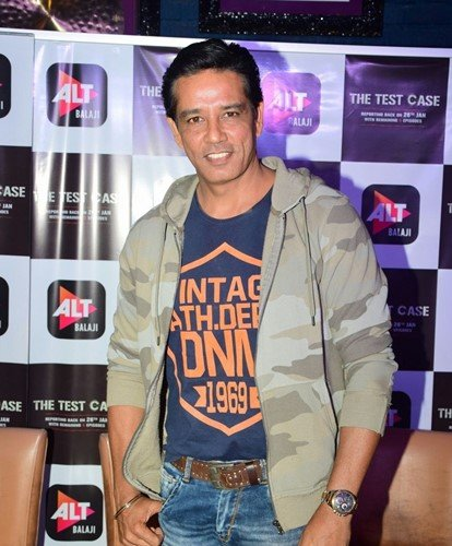 Anup Soni at the promotional event of the series The Test Case (2018)