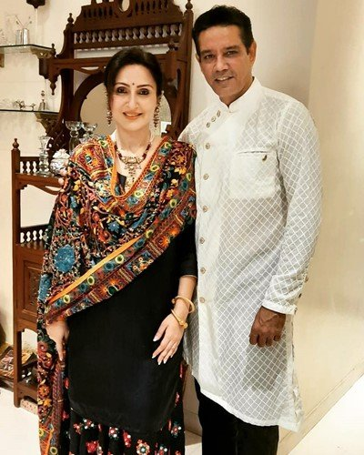 Anup Soni with his wife, Juhi Babbar