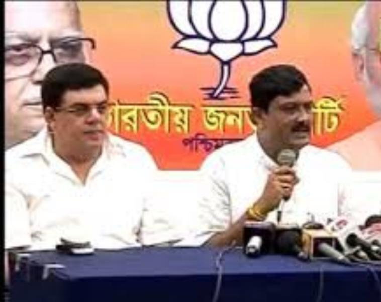 Derek O'Brien's brother in a BJP press conference
