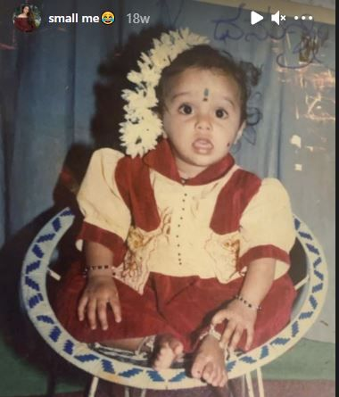 Dhanushree's childhood photo