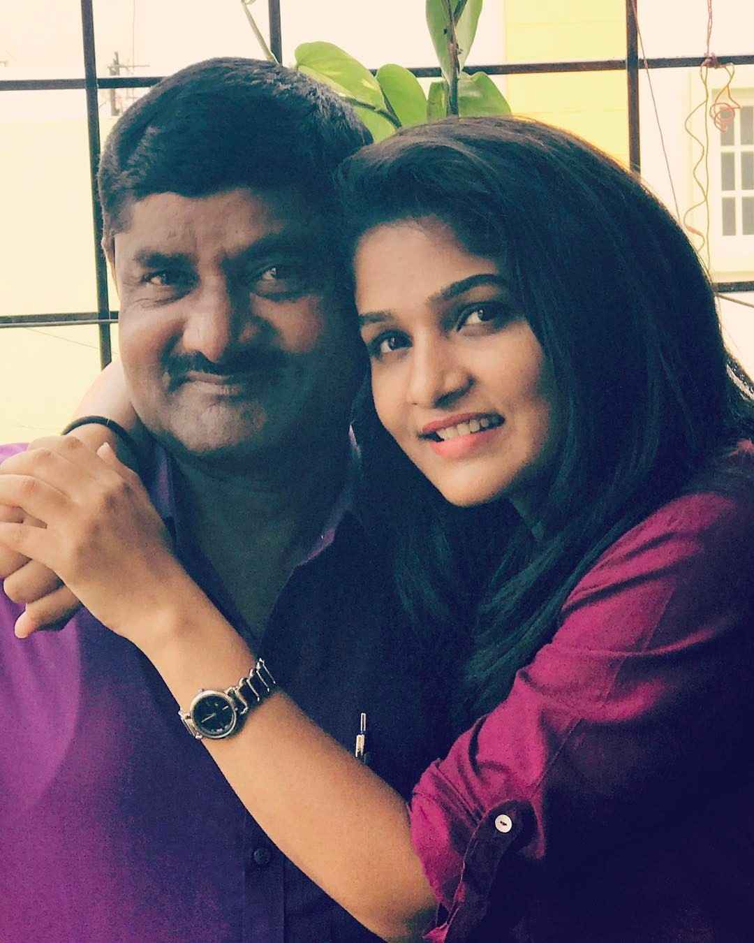 Divya Uruduga with her father