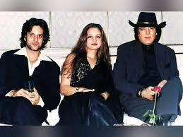 Feroz Khan with Fardeen and Laila Khan