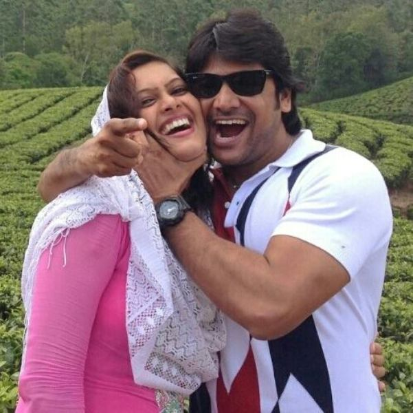 Firoz Khan with his wife
