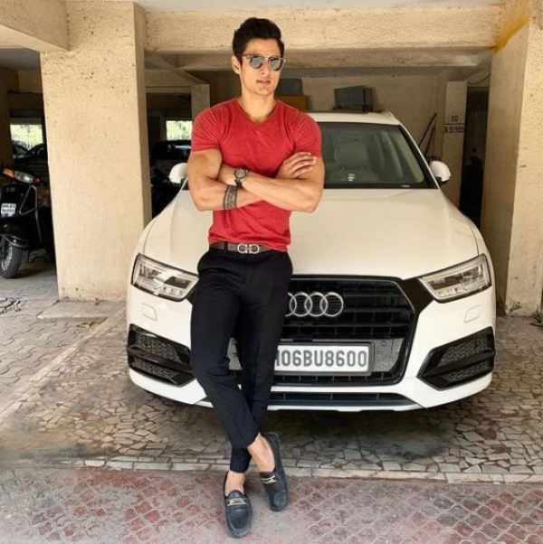 Jay Dudhane  with his Audi
