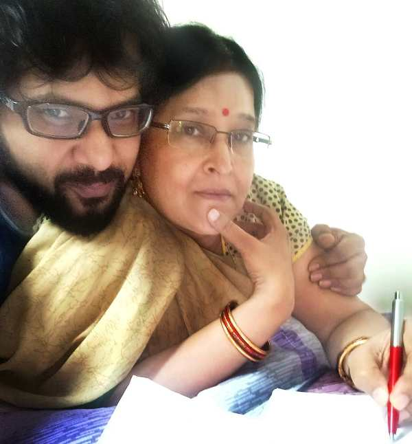 Sabyasachi Mishra with his mother